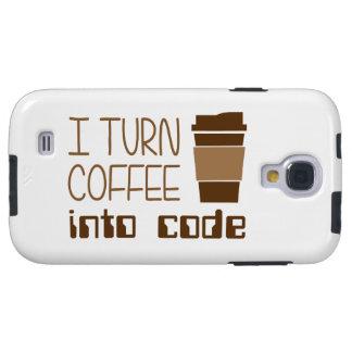 Doy vuelta al café en código programado funda para galaxy s4