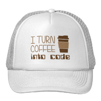 Doy vuelta al café en código programado gorra