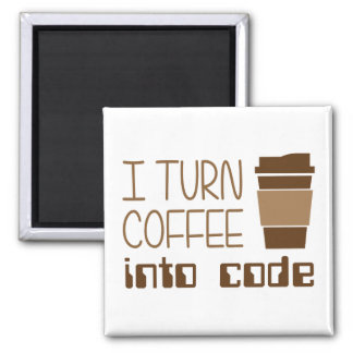 Doy vuelta al café en código programado iman de nevera