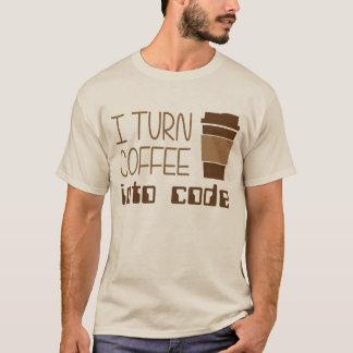 Doy vuelta al café en código programado playera