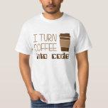 Doy vuelta al café en código programado poleras