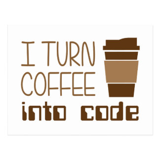 Doy vuelta al café en código programado postal