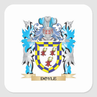 Doyle Coat of Arms - Family Crest Square Stickers