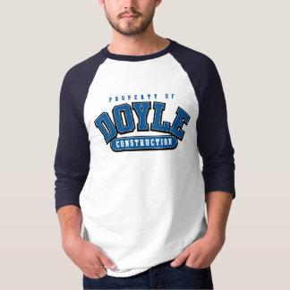 DOYLE CONSTRUCTION, Athletic tee 1 , ROYAL BLUE
