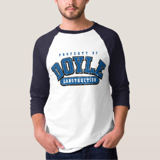DOYLE CONSTRUCTION, Athletic tee, ROYAL BLUE WORN T-Shirt