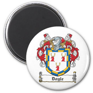 Doyle Family Crest 2 Inch Round Magnet