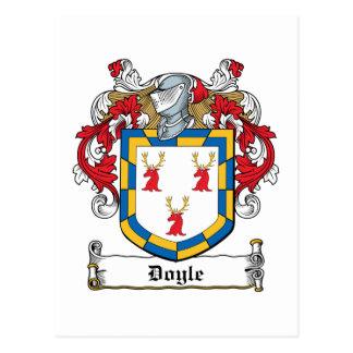 Doyle Family Crest Postcard