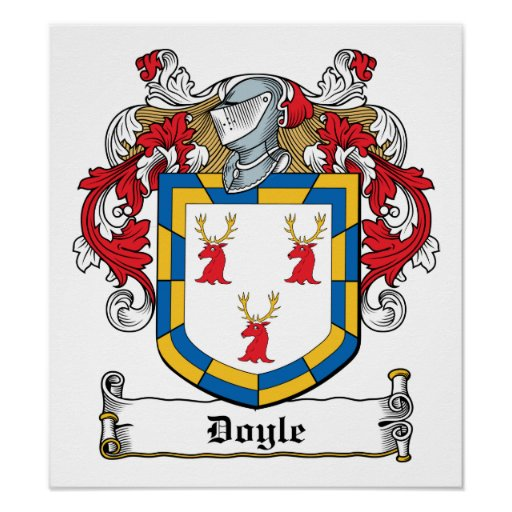 Doyle Family Crest Poster