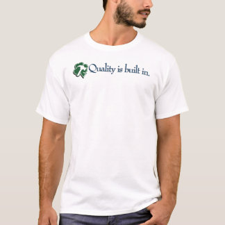 """Doyle """"Quality is built in."""" Tee with clover"""