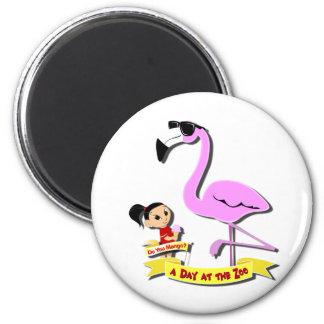 DoYouMango - Flamingo! 2 Inch Round Magnet