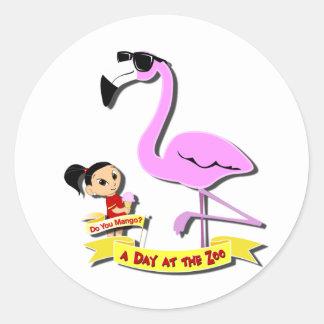 DoYouMango - Flamingo! Classic Round Sticker