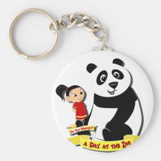 DoYouMango - Panda! Basic Round Button Keychain