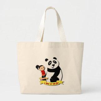 DoYouMango - Panda! Large Tote Bag
