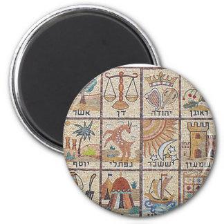 Doze Tribos de Israel 2 Inch Round Magnet