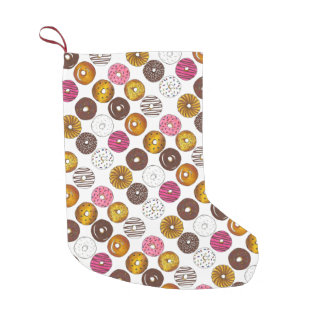 Dozen Donuts Doughnuts Breakfast Junk Food Foodie Small Christmas Stocking
