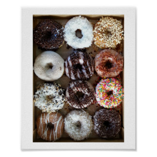 Dozen Donuts Doughnuts Poster