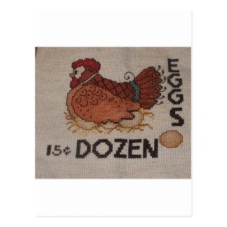 dozen eggs postcard