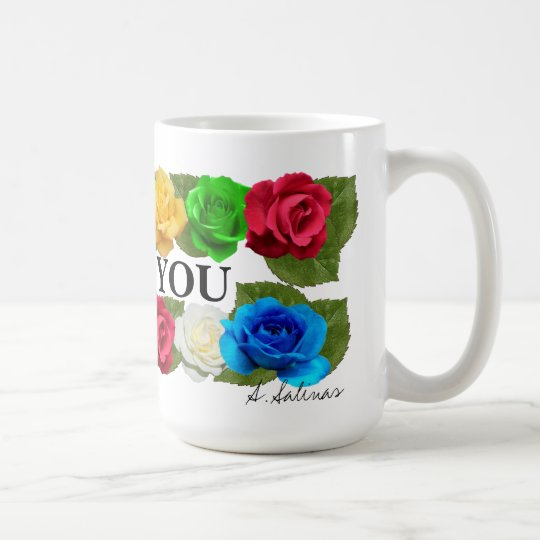 Dozen Rose Love You Mug