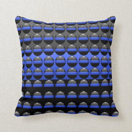 Dozens of Thin Blue Line Buttons Throw Pillow