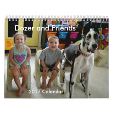 Dozer And Friends 2017 Calendar at Zazzle
