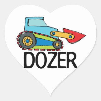 Dozer Heart Sticker