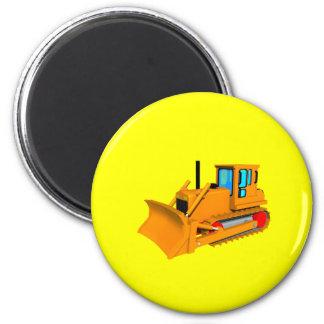 Dozer Yellow Round magnet