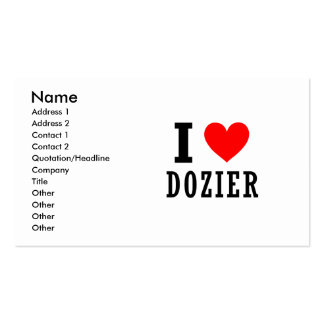 Dozier, Alabama Double-Sided Standard Business Cards (Pack Of 100)