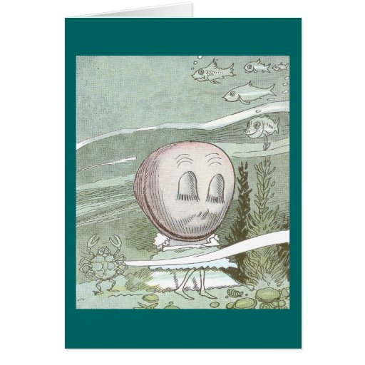 Dozing Clam at the Bottom of the Sea Greeting Card