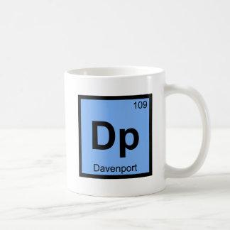 Dp - Davenport Iowa City Chemistry Periodic Table Coffee Mug