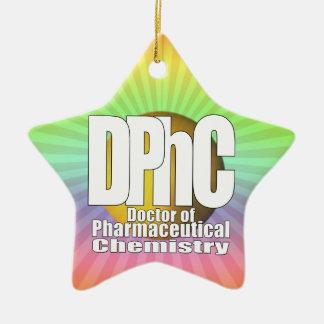 DPhC LOGO Doctor of Pharmaceutical Chemistry Ceramic Ornament