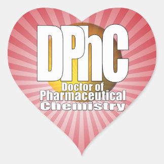 DPhC LOGO Doctor of Pharmaceutical Chemistry Heart Sticker