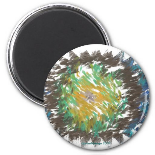 dpm 2-1_Painting-star, dpmartdesign 2009 Fridge Magnet