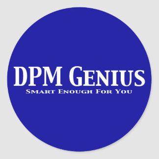 DPM Genius Gifts Classic Round Sticker