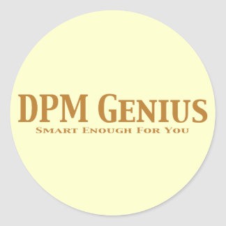 DPM Genius Gifts Classic Round Sticker