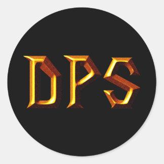 DPS CLASSIC ROUND STICKER