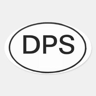 DPS: international motor vehicle reg. Oval Stickers
