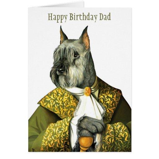 DR007 schnauzer, papá del feliz cumpleaños Felicitación