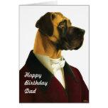 DR032 Great Dane, HappyBirthdayDad card