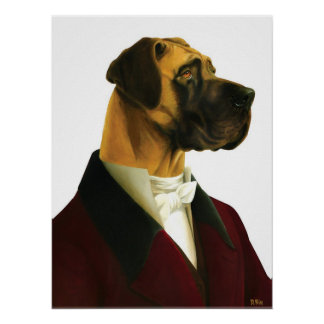 DR032 Great Dane poster