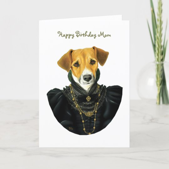 Dr037 Jack Russell Terrier Happy Birthday Mom Card Zazzle