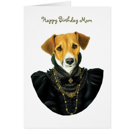 DR037 Jack Russell Terrier, Happy Birthday Mom Card