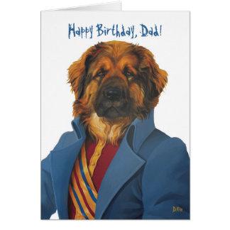 DR066 leonberger, Happy Birthday, Dad! Card