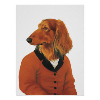 DR083 dachshund poster
