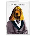 DR181 Blond English Cocker Spaniel card