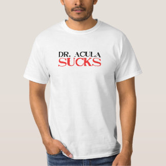 dr. acula sucks t-shirt