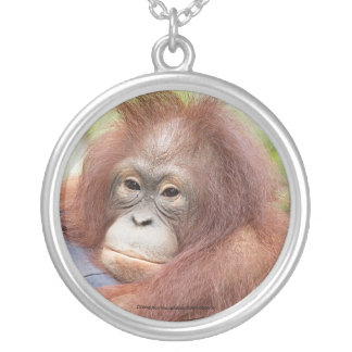 Dr. Ann, Orangutan of OFI Silver Plated Necklace
