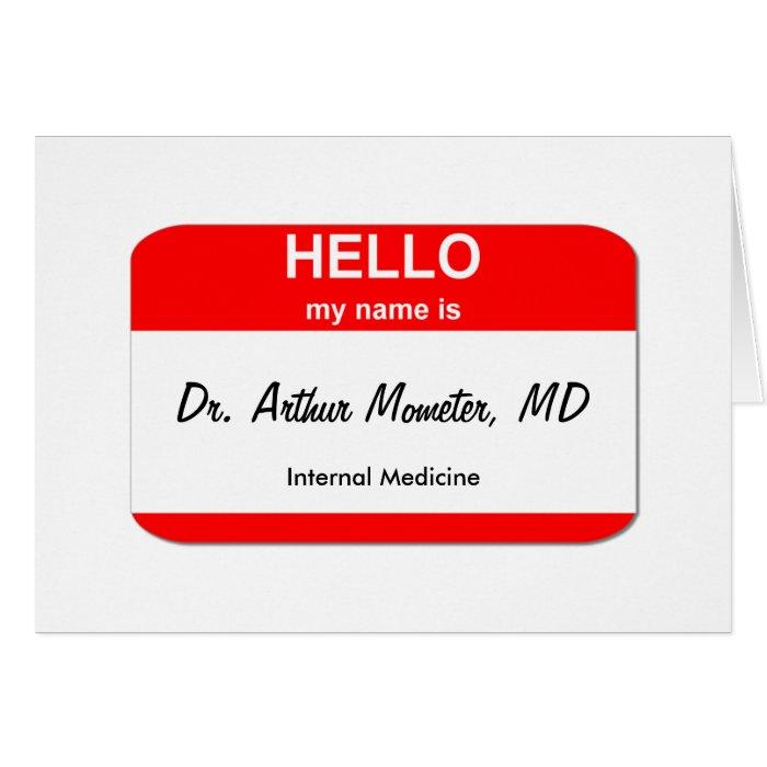 Dr. Arthur Mometer, MD Card