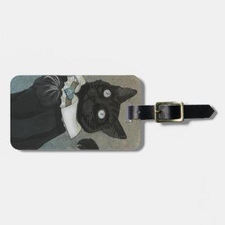 Dr. Bagheera Luggage Tag w/ leather strap