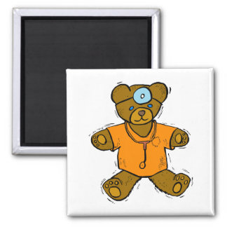 Dr Bear 2 Inch Square Magnet