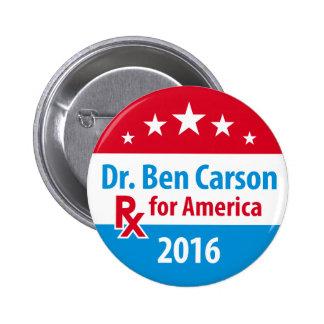 Dr. Ben Carson 2016 - Prescription for America 2 Inch Round Button